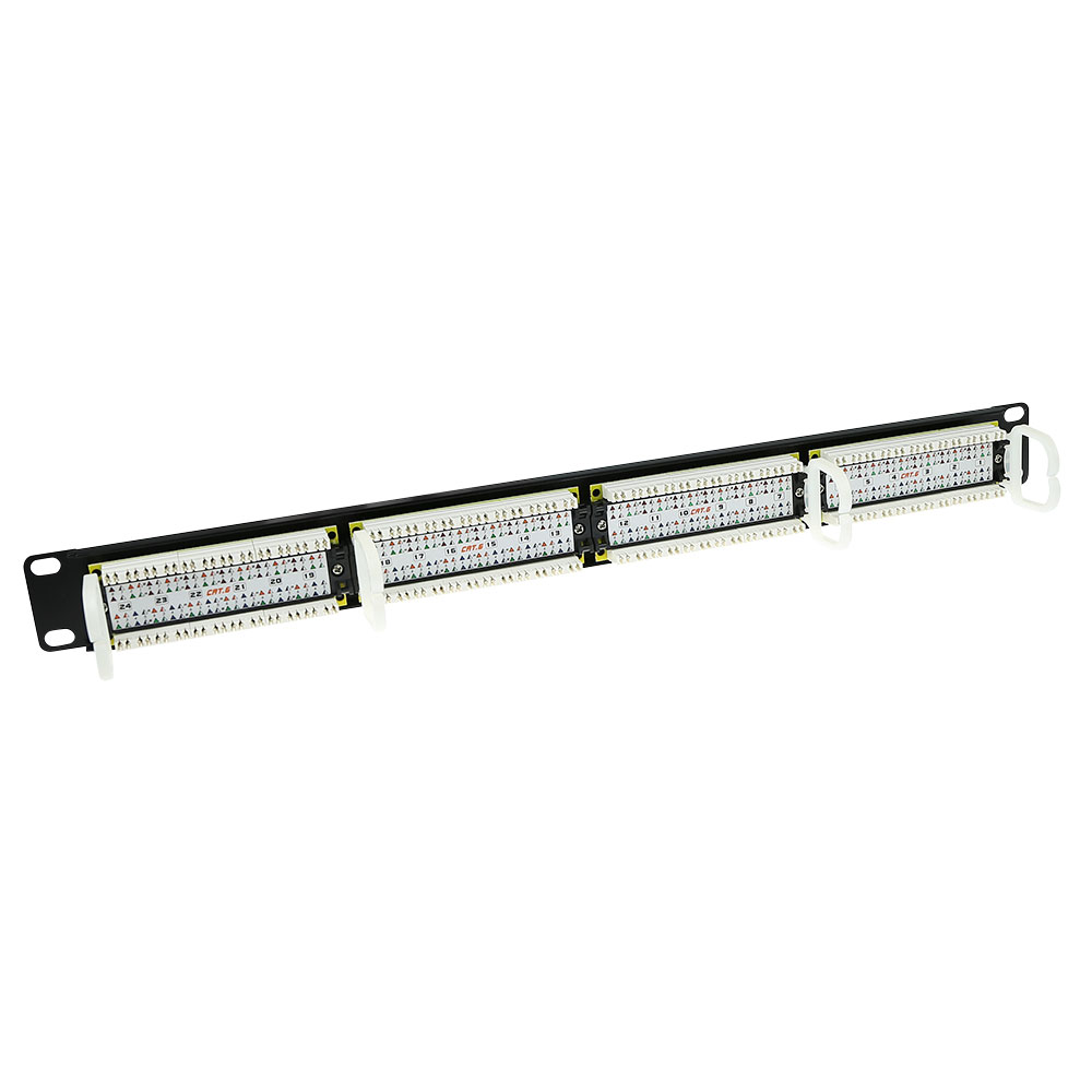 Patchpanel 24-ports unshielded 45° CAT6
