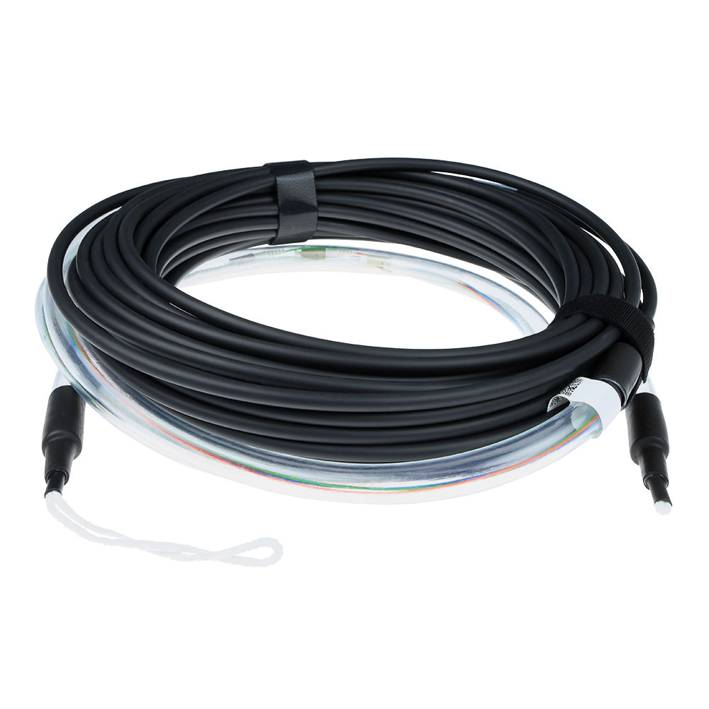 90 meter Singlemode 9/125 OS2 indoor/outdoor cable 8 fibers with LC connectors