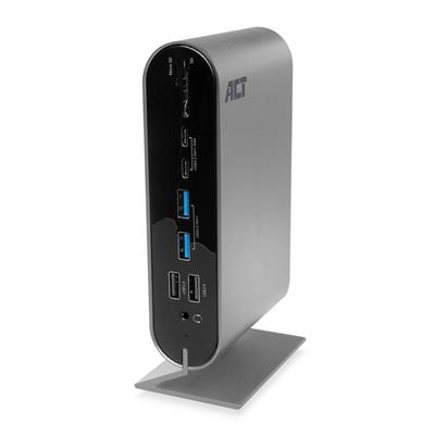 USB-C 4K Multiport Dock with HDMI/DisplayPort/VGA, 2x USB-C, 4x USB-A, LAN, Card reader, USB-C PD Pass-Through 100W