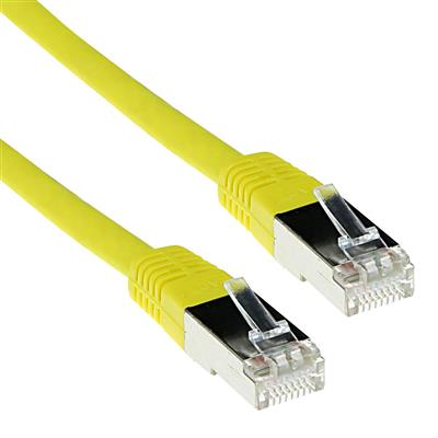 Yellow 1 meter LSZH SFTP CAT6 patch cable with RJ45 connectors