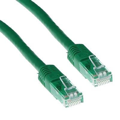 Green 3 meter LSZH U/UTP CAT6 patch cable with RJ45 connectors