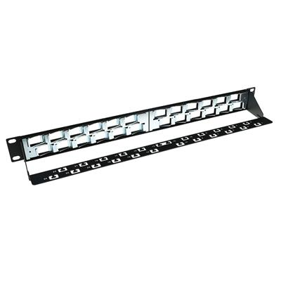 24 Port Keystone jack 45 degrees patch panel without connectors