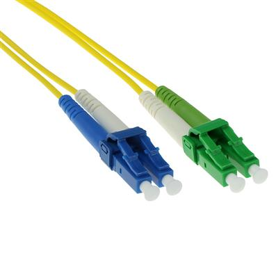 1 meter LSZH Singlemode 9/125 OS2 fiber patch cable duplex with LC/APC and LC/UPC connectors