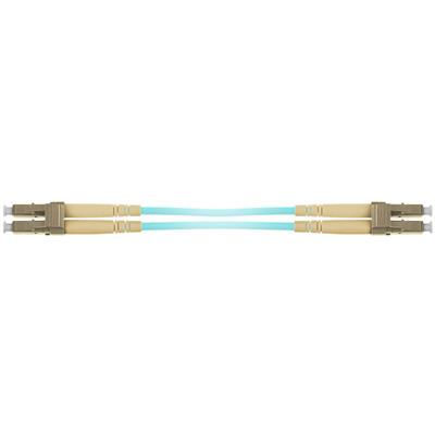 25 meter multimode 50/125 OM3 duplex armored fiber patch cable with LC connectors