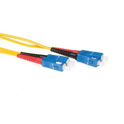 7 meter LSZH Singlemode 9/125 OS2 fiber patch cable duplex with SC connectors