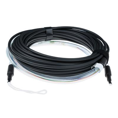 50 meter Singlemode 9/125 OS2 indoor/outdoor cable 8 fibers with LC connectors