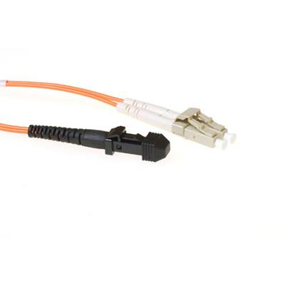 2 meter LSZH Multimode 62.5/125 OM1 fiber patch cable duplex with MTRJ and LC connectors